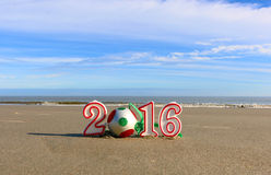 An neuf sur la plage Photographie stock libre de droits