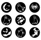 Neuf symboles de Veille de la toussaint Photographie stock
