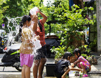 An neuf thaï de Songkarn - festival de l'eau Images stock