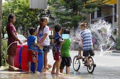 An neuf thaï de Songkarn - festival de l'eau Images libres de droits
