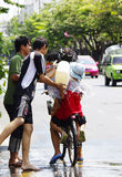 An neuf thaï de Songkarn - festival de l'eau Image libre de droits