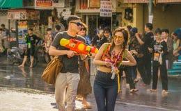 An neuf thaï - Songkran Images libres de droits