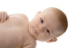 Neugeboren mit lustigem Blick lizenzfreie stockbilder
