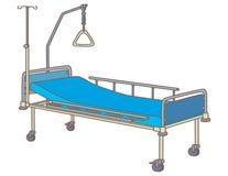 Neugeboren wenig grünes Bett nahe Bett des Mutter stock abbildung