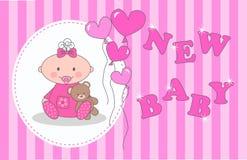 Neugeborene Babymitteilung stock abbildung