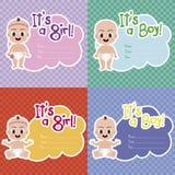 neugeborene Karte für Jungen Lizenzfreie Stockbilder