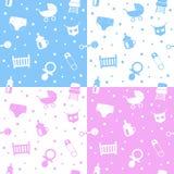 Neugeborene nahtlose Muster Lizenzfreie Stockbilder