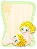 Neugeborene weibliche Zwillinge Lizenzfreie Stockfotos
