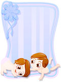 Neugeborene Zwillinge Lizenzfreies Stockbild