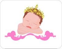 Neugeborener Engel in der Leuchte lizenzfreie abbildung