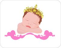 Neugeborener Engel in der Leuchte Lizenzfreie Stockbilder