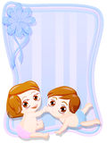Neugeborener Mann und weibliche Zwillinge Lizenzfreie Stockbilder