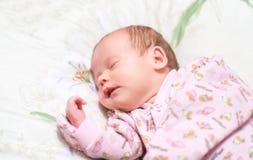 Neugeborener Schlaf Stockfotografie