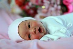 Neugeborenes Baby eine Woche Lizenzfreie Stockfotos