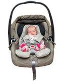 Neugeborenes Baby in einem Autositz Lizenzfreie Stockfotografie