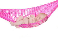 Neugeborenes Baby schlafend Stockfotografie