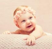Neugeborenes feines Porträt Stockfoto