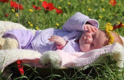 Neugeborenes Mädchen stockbilder