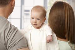 Neugeborenes Schätzchen-Gesicht Stockbild