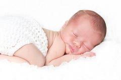 Neugeborenes Schätzchenportrait Stockbild