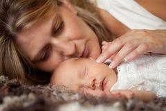 Neugeborenes Schätzchen Stockfoto