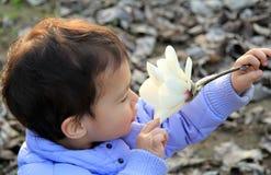 Neugier des schönen Kindes Stockbild