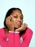 Neugierige junge Dame Lizenzfreies Stockfoto