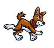 Neugieriger gehender Brown-Hund lizenzfreie abbildung