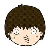 neugieriger Junge der komischen Karikatur Stockbilder