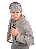 Neugieriges Rohr und Lupe Sherlocks Holmes lizenzfreies stockfoto