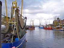 Neuharlingersiel harbor Royalty Free Stock Images