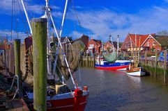 Neuharlingersiel harbour Royalty Free Stock Photo