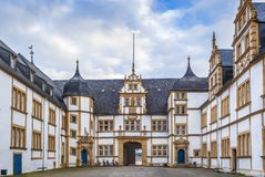 Neuhaus Castle in Paderborn, Germany. Neuhaus Castle, former residence of bishop princes, is quite a famous Renaissance castle in North Rhine-Westphalia stock photo