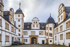 Neuhaus Castle in Paderborn, Germany. Neuhaus Castle, former residence of bishop princes, is quite a famous Renaissance castle in North Rhine-Westphalia royalty free stock image
