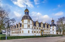 Neuhaus Castle in Paderborn, Germany. Neuhaus Castle, former residence of bishop princes, is quite a famous Renaissance castle in North Rhine-Westphalia stock image