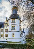 Neuhaus Castle in Paderborn, Germany. Neuhaus Castle, former residence of bishop princes, is quite a famous Renaissance castle in North Rhine-Westphalia royalty free stock photos