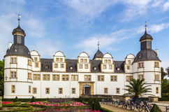 Neuhaus Castle in Paderborn, Germany. Neuhaus Castle, former residence of bishop princes, is quite a famous Renaissance castle in North Rhine-Westphalia Royalty Free Stock Photo