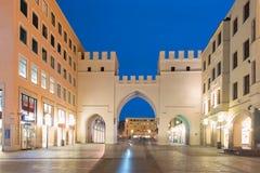 Neuhauser街和Karlsplatz门在慕尼黑,德国 库存图片