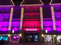 Neuhauser Strasse in Christmas. View of Neuhauser Strasse with Christmas decorations. Picture taken in 2015 Stock Photo