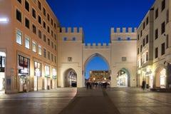 Neuhauser Street and Karlsplatz Gate in Munich at the Evening, G Stock Photo