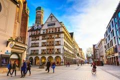 Neuhauser ulica w Monachium, Niemcy Zdjęcie Stock