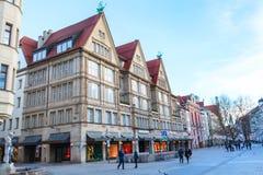 Neuhauser ulica w Monachium, Niemcy Zdjęcia Royalty Free