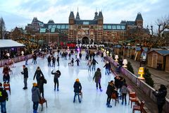 Neujahrsfeiertage, wenn Amsterdam überrascht wird stockfotografie