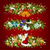 Neujahrsfeiertaggirlande des Weihnachtsbaums, Geschenk lizenzfreie abbildung