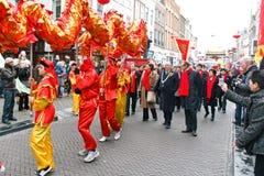 Neujahrsfest-Parade Stockfotografie