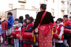 Neujahrsfestparade in Mailand Stockbild