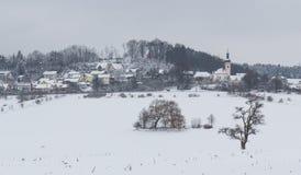 Neukirchen в зиме Стоковое Изображение RF