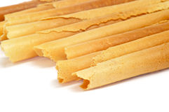 Neulas, typical thin biscuit rolls eaten in Christmas in Catalon Royalty Free Stock Photo