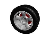 Neumático con el borde de la aleación Foto de archivo libre de regalías