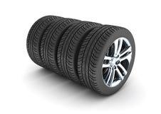 Neumático de coche Foto de archivo libre de regalías